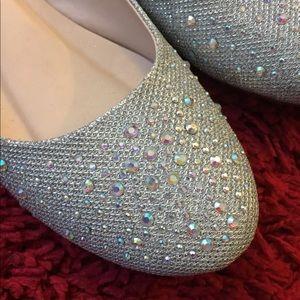e94b90fa0 bonnibel Shoes - Bonnibel silver rhinestone flats wedding shoes